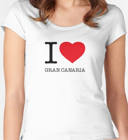 I ♥ GRAN CANARIA Women's Fitted Scoop T-Shirt