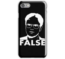 Dwight - White on Black FALSE iPhone Case/Skin