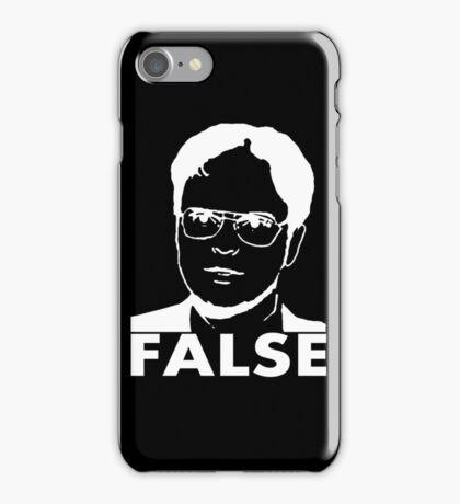Dwight - White on Black FALSE iPhone Case/Skin