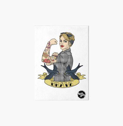 Brave Woman (Blonde) Art Board