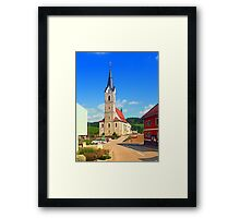 The village church of Reichenau II | architectural photography Framed Print