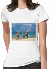 Beach Clean Up Womens Fitted T-Shirt