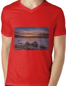 Alum Bay Sunset #2 Mens V-Neck T-Shirt