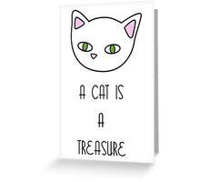 Cat Treasure Greeting Card