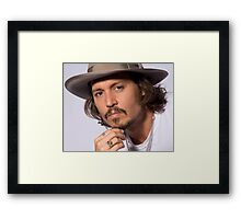 Johnny Depp b Framed Print