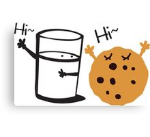 Hi Hi cookie and Milk Canvas Print