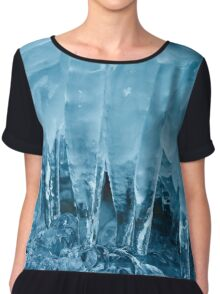 Icicles from a frozen waterfall Chiffon Top