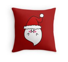 Santa Hat Blushing Ghost Throw Pillow