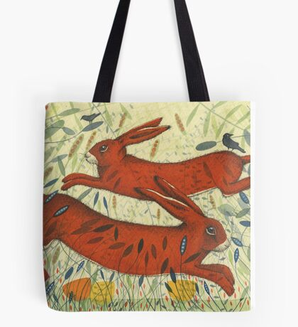 The Hares and the Crows Tote Bag