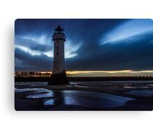 Perch Rock Lighthouse in the evening Canvas Print