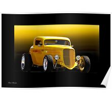 1934 Ford 'Chop Top' Coupe Poster