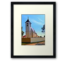 The village church of Sankt Stefan IV | architectural photography Framed Print