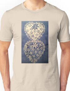 Sweet Hearts... Blue and White Unisex T-Shirt