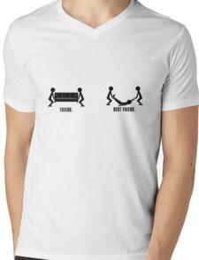 FRIEND  Mens V-Neck T-Shirt