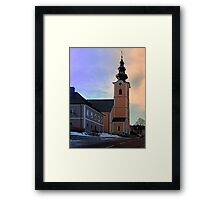 The village church of Traberg I | architectural photography Framed Print