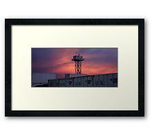 Twilight Tower Framed Print