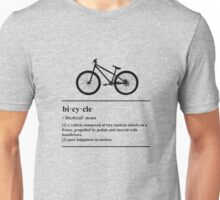 Bicycle Definition - Happiness In Motion Unisex T-Shirt