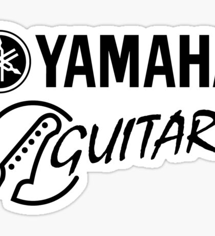 Yamaha Guitars. Sticker