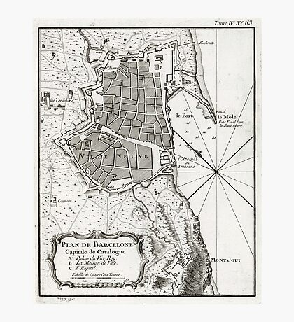 Plan of Barcelona - 1764 Photographic Print