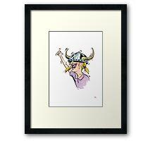 V is for Viking! Framed Print
