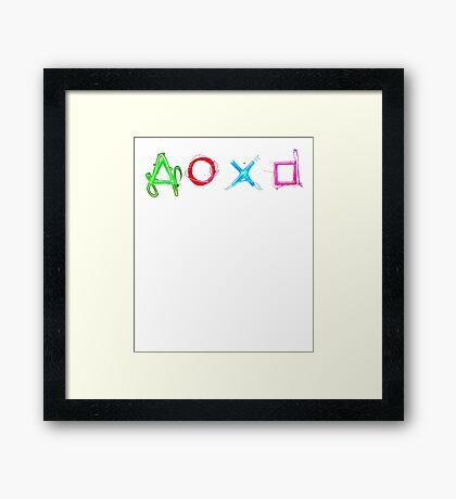 PS4 Controller Buttons Framed Print