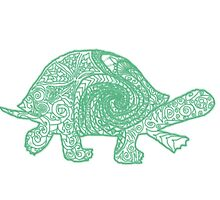 Green-ish Turtle by zaaranjali
