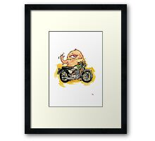 M is for Motorbike Monster! Framed Print