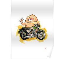 M is for Motorbike Monster! Poster