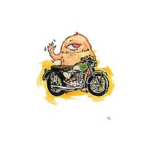 M is for Motorbike Monster! Photographic Print