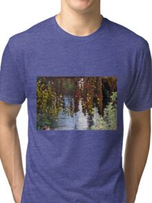 water reflection on river Tri-blend T-Shirt