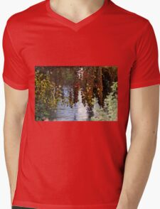water reflection on river Mens V-Neck T-Shirt