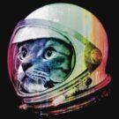 Astronaut Space Cat (digital rainbow version) by robotface