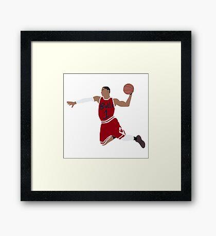 Slam Dunk - Basketball Framed Print