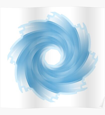WHIRLPOOL, Water, Blue Poster