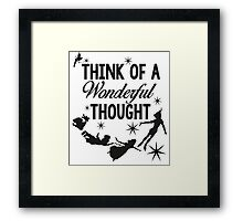 Think of a Wonderful Thought Framed Print