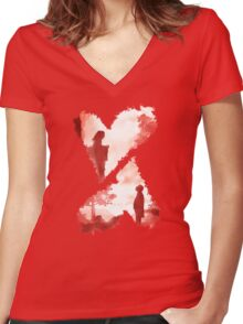 Secret Lovers Meet Women's Fitted V-Neck T-Shirt
