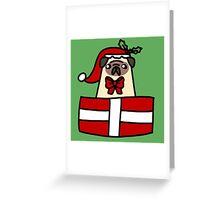 Christmas Gift Pug Greeting Card