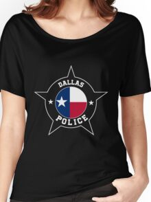 Dallas Police T Shirt - Texas flag Women's Relaxed Fit T-Shirt