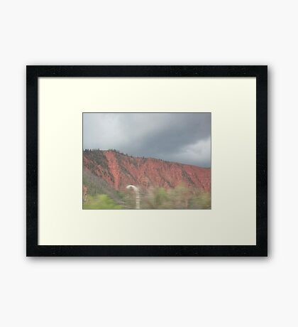 Painted Mountains of Colorado Framed Print