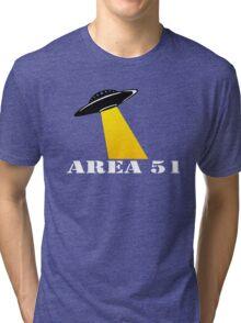 Cool Alien Hello T-shirt Emoticon Martian UFO Smile Tshirt Tri-blend T-Shirt
