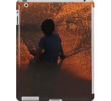 red golden sunset - puesta del sol rojo y oro iPad Case/Skin