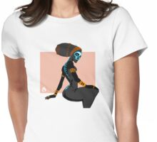 Spined Womens Fitted T-Shirt