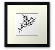 Fairy, Vintage, Cool, Old, Historic, Retro Framed Print