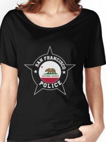 San Francisco Police T Shirt - California flag Women's Relaxed Fit T-Shirt