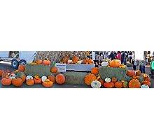 Pumpkin panorama Photographic Print