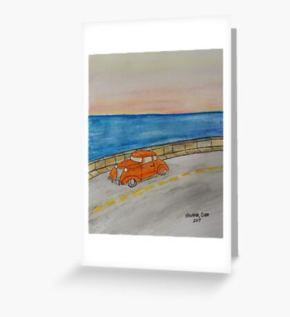 The Malecón Greeting Card