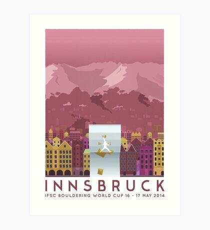 IFSC Bouldering World Cup - Innsbruck Art Print