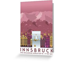 IFSC Bouldering World Cup - Innsbruck Greeting Card