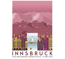 IFSC Bouldering World Cup - Innsbruck Photographic Print