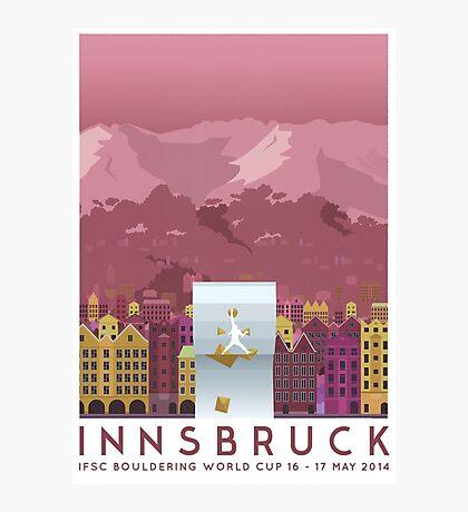 IFSC Bouldering World Cup - Innsbruck Photographic Print
